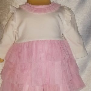 Mud Pie Dresses - Mud pie 0 to 6 months pink and white dress